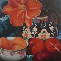 Swiss Vase with Fruit